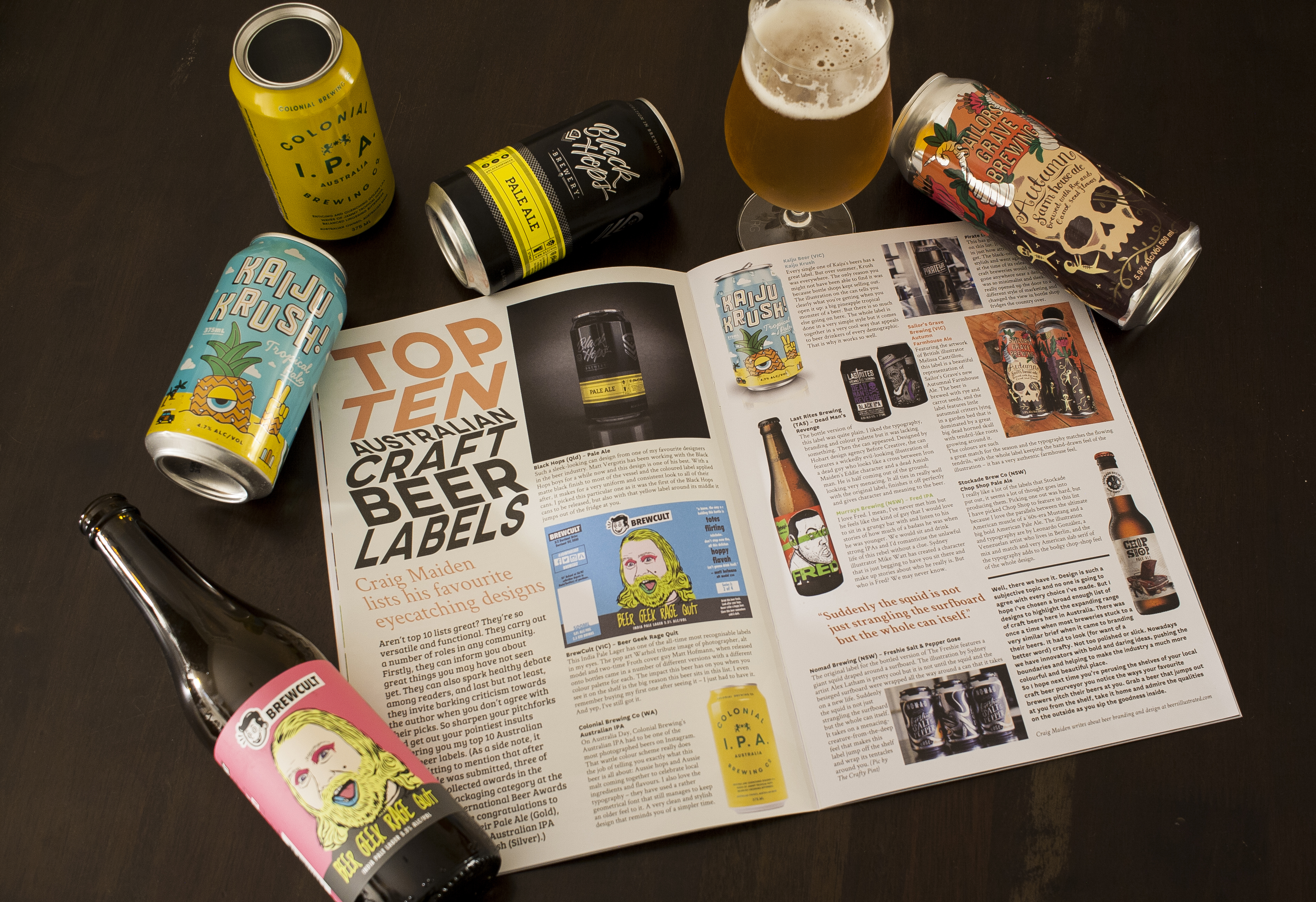 Froth craft beer magazine the design issue for Best craft beer kit